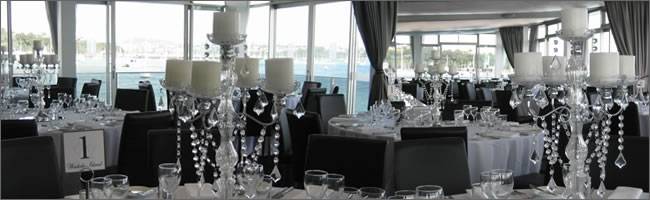 Crystal candelabra hire at Okahu, Missiion Bay, Auckland