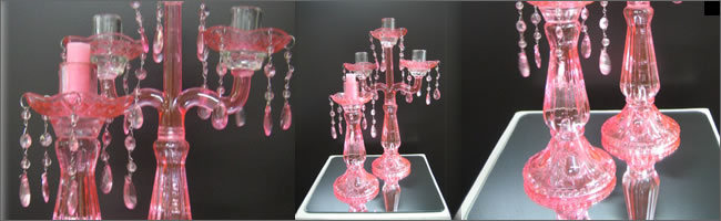 Vintage style candelabra and matching candlestick holder, Auckland Hire