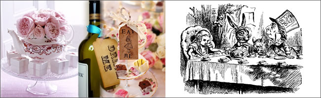 Alice in Wonderland and Mad Hatter Tea Party props, Auckland Hire