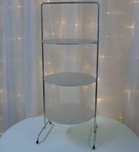 3 tier stainless steel cupcake stands for hire, Auckland CBD