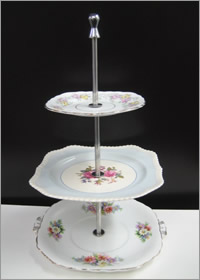 Vintage 3 tier cupcake stand hire, Auckland