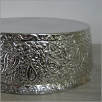 Silver wedding cake stand hire, Auckland