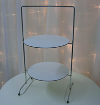 Stainless steel high tea cupcake stands for hire, Auckland CBD
