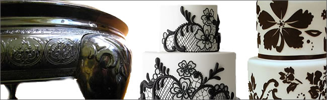 Black wedding cake stand for hire, Auckland