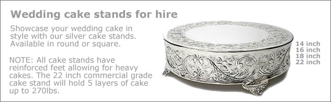 Vintage and wedding cake stands for hire, Auckland