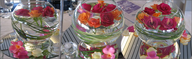 Tropical corporate centrepiece hire, Auckand CBD
