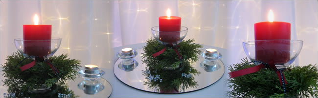 Christmas table centrepieces for hire, Auckland
