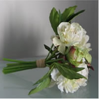 White peony flower bouquet for hire, Auckland
