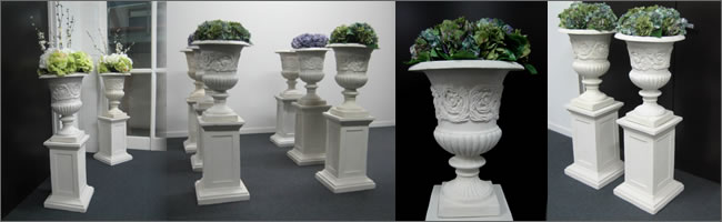 Wedding ailse pillar and urn wakway for hire,  Auckland