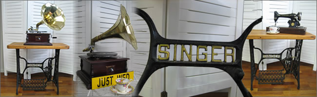 Vintage singer sewing machine hire, Auckland prop hire