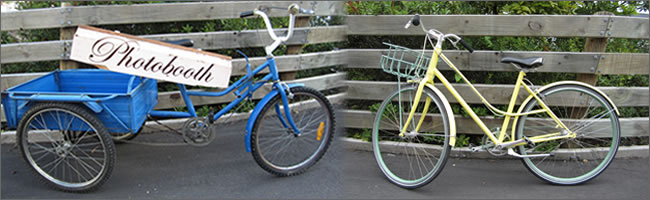 Vintage cart trike for hire, prop hire,, Auckland