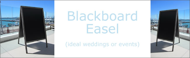 Wedding blackboard for hire, Auckland