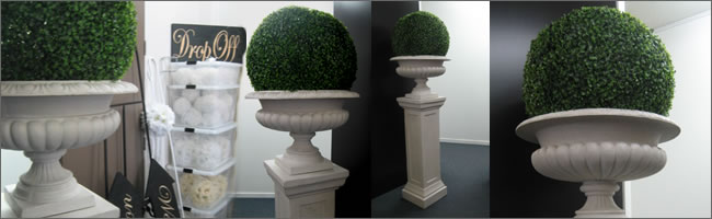 Giant topiary ball hire, Auckland