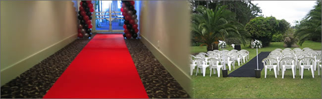 Hire wedding aisle runners, Auckland Hire