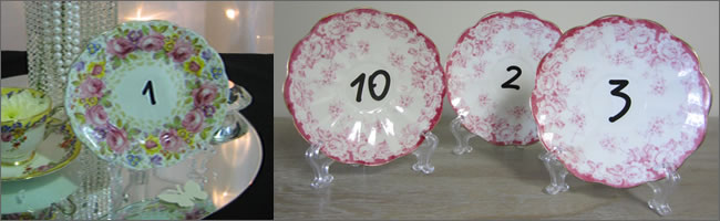Vintage table number stands for wedding hire, Centrepieces, Auckland
