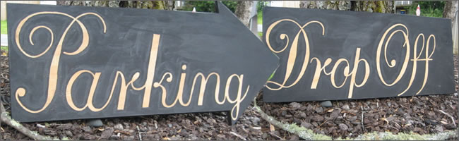 Wedding directional signs for hire, Auckland