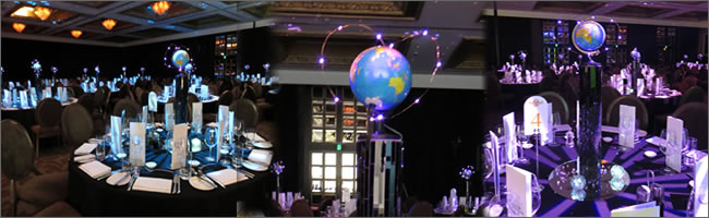World ttavel centrepiece hire