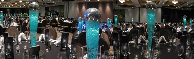 Leading light centrepiece design, Auckland Centrepiece Hire