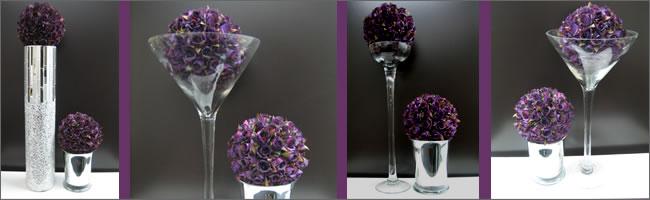 Corporate centrepieces themed to corporate colours
