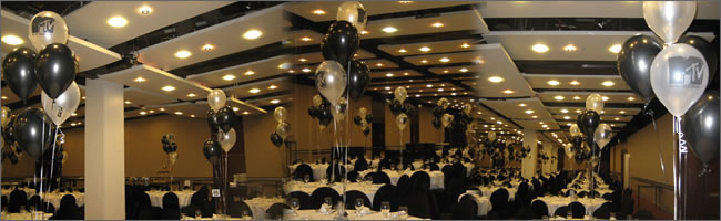 Music award themed balloon centrepieces, Auckland Centrepieces