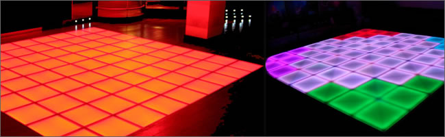 Illuminated dance floor hire, Auckland Hire