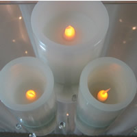 LED candles for hire, Auckland Centrepiece Hire