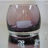 Burgundy tealight holders for hire
