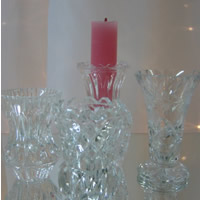 Vintage lead crystal candle holder hire, Auckland Centrepiece Hire