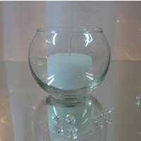 Round tealight sphere for hire, Auckland Centrepiece Hire
