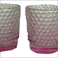 Vintage hobnail tealight for hire, Auckland Centrepieces