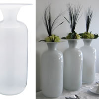 Wedding white vases for hire