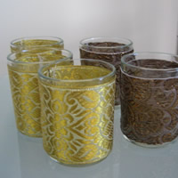 Bronze and gold votive candle holders for hire. Auckland Centrepiece Hire