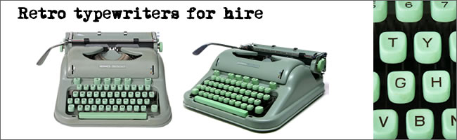 Retro typewriter hire, Auckland