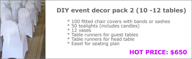 Event hire package deal